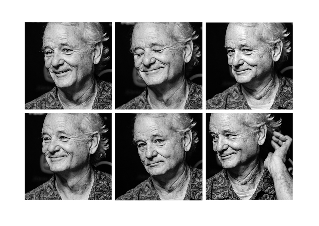 The many faces of actor Bill Murray during his John Deere Classic Pro-Am Day press conference.  (Todd Mizener - Dispatch/Argus)
